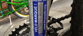 Marquage de vélos par machine portable