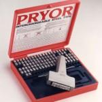 Pryor type - caractères de marquage Pryor